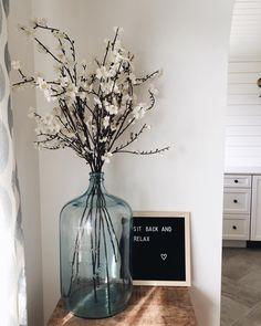 Decor blue glass vase