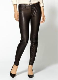 Mix things up with some sexy leather pants. i don't dare...