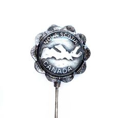 Vintage Souvenir Stick Pin, Silver Nova Scotia Canada