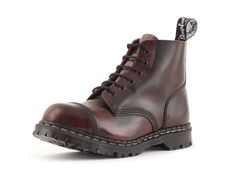 Gripfast 6 Eyelet Steel Toe Boot in Burgundy Rub. I have this colour in a shoe, but they are almost beat, like all my docs, but can't part with any of them.