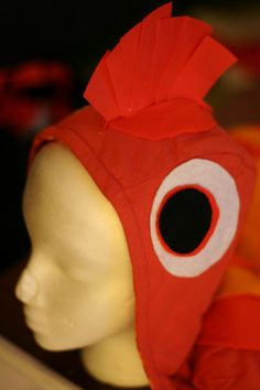 Nemo costume tutorial but with stripes The Little Mermaid Musical, Little Mermaid Play, Little Mermaid Costumes, Theatre Costumes, Diy Costumes, Halloween Costumes, Costume Ideas, Animal Costumes, Red Fish Blue Fish