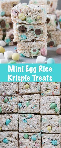 These Mini Egg Rice Kispie Treats are an easy Easter treats recipe and perfectly festive! These Mini Egg Rice Kispie Treats are an easy Easter treats recipe and perfectly festive! Easter Snacks, Easter Treats, Easter Recipes, Mini Egg Recipes, Easter Desserts, Easter Food, Easter Dinner, Easter Bunny, Best Dessert Recipes