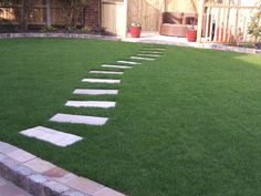 Landscaping Liverpool – Garden Makeover including new lawn and stepping stone path.landscapingli… - All For Garden Landscape Stepping Stones, Stepping Stone Pathway, Stone Garden Paths, Garden Steps, Stone Pathways, Backyard Walkway, Outdoor Walkway, Stone Landscaping, Outdoor Landscaping