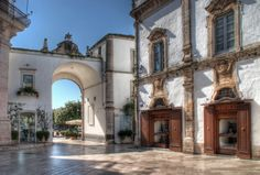 Rome square in Martina Franca ITALY