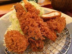 Yummy Tonkatsu meal in Japan. 味武蔵でとんかつランチ