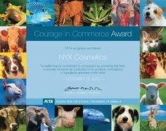 NYX Cosmetics Receives PETA's Courage in Commerce Award | PETA.org