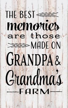 Best Memories Grandma Grandpa Farm Wood Sign Canvas Wall Art - Christmas Gift, Mother's Day, Father's Day, Pregnancy Reveal, Birthday Gift #affiliate Wood Pallet Crafts, Wood Pallet Signs, Rustic Wood Signs, Art Christmas Gifts, Mother Christmas Gifts, Mother Gifts, Mothers, Grandpa Birthday Gifts, Grandpa Gifts