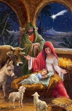 Merry Christmas Gif, Christmas Scenery, Christmas Jesus, Christmas Nativity Scene, Christian Christmas, Christmas Pictures, Christmas Greetings, Christmas Fun, Vintage Christmas