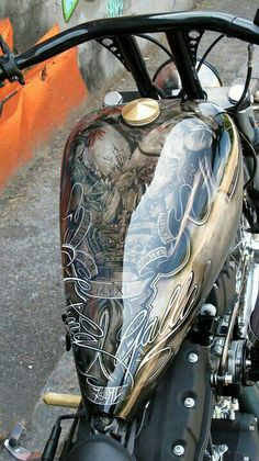 Motorcycle. Gas tank