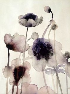 Anemones by Lourdes Sanchez Abstract Watercolor, Watercolor And Ink, Watercolour Painting, Watercolor Flowers, Painting & Drawing, Flowers Wallpaper, Poster Photo, Motif Floral, Botanical Art