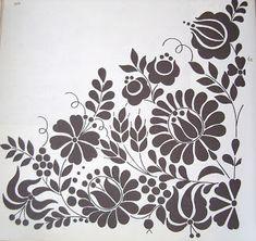 Magyar folk art motif. Flower style from the town of Kalocsa
