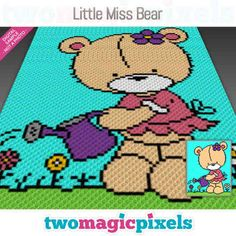 Two Magic Pixels - Beautiful graphs for crochet, cross stitch and other crafts C2c Crochet, Crochet For Kids, Crochet Cross, Happy Birthday Dragon, Baby Piglets, Sleepy Bear, Baby Polar Bears, Crochet Disney, Diamond Paint