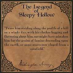 🎃Quote from The Legend of Sleepy Hollow by Washington Irving🎃 Sleepy Hollow Book, Legend Of Sleepy Hollow, Windy Day, Book Club Books, Washington, Quote, Quotation, Qoutes, Washington State