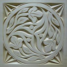 Résultat d'images pour chip carving designs Wood Carving Designs, Wood Carving Patterns, Wood Carving Art, Wood Art, Wood Crafts, Diy And Crafts, Paper Structure, Mandala Stencils, Chip Carving