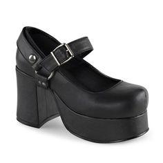 Demonia ABBEY-02 Black High Heel Gothic Platform Shoes