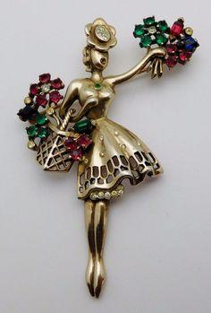 Vintage Trifari Sterling Silver Ladies Woman Brooch Pin | eBay