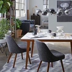 """Black white and bold. Cop our style with the link in bio. #mywestelm #monochromemoment #loftgoals (Psst: that paint color is Sherwin-Williams """"Software"""" SW704.) by westelm"""