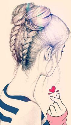 Abstract Pencil Drawings, Girl Drawing Sketches, Girly Drawings, Art Drawings Sketches Simple, Drawing Faces, Pencil Drawing Images, Tumblr Sketches, Pencil Drawings Of Girls, Best Drawing