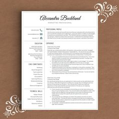 Classic Resume Template  Ms Word  Professional Resume Template