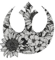Floral Star wars rebel tattoo idea