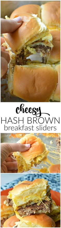 These Cheesy Hash Brown Breakfast Sliders are the perfect savory addition to your breakfast or brunch menu!