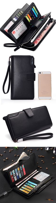 Men PU Leather Business Long Wallet Credit Card Organizer Wallet with 21 Card Slots. Wallet for men, men's business long wallet, card organizer wallet. Black and Coffee. Shop now!