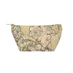 """Peonies Pouch - Large - 12.5"""" x 8.5"""" / Flat Pouch"""