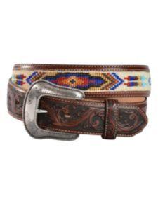 Justin Pueblo Spirit Brown Leather Belt