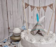 Tribal Cake Topper Set by Msapple on Etsy