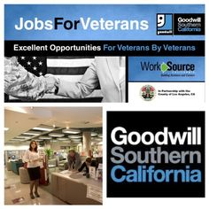 Did you know Goodwill Southern California offers much more than great finds at deeply discounted prices?    Goodwill Southern California established a service center dedicated solely to assisting veterans throughout Los Angeles. The Veteran E  mployment Program offers job training, placement and employment services and programs to thousands of American veterans, as well as their spouses and families.    http://www.goodwillsocal.org/employment/veterans/