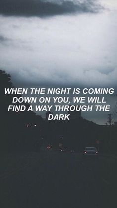through the dark // one direction