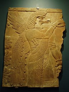 An Eagle-Man Soldier associated with Anunnaki-Sumerian Goddess Ninharsag.  ~ Note the comments/pictures by previous pinner aren't mine but shared for your consideration.