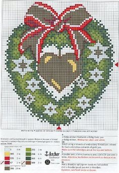 Ponto Cruz de Natal - Gráficos maiores ~ Arte De Fazer | Decoração e Artesanato