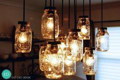 DIY Mason Jar Chandelier - East Coast Creative Blog