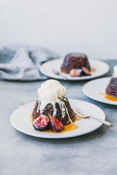 Sticky Fig & Ginger Puddings with Whisky Butterscotch Sauce - The Brick Kitchen