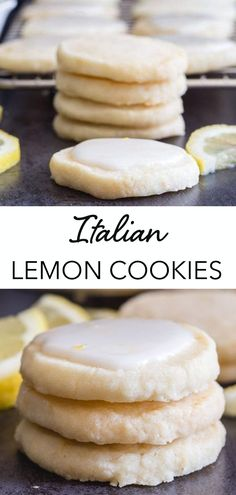 Italian Lemon Cookies Perfect melt in your mouth Lemon Cookies. If you love anything lemon then you are going to love these cookies. Light and easy to make, with a tasty lemon glaze, they are sure to satisfy any lemon lover! Perfect for spring and summer! Lemon Desserts, Lemon Recipes, Just Desserts, Baking Recipes, Sweet Recipes, Cookie Recipes, Delicious Desserts, Dessert Recipes, Yummy Food