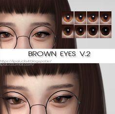 """lipaluci: """" brown eyes V.2 :) 8 colors. enjoy! Download """""""