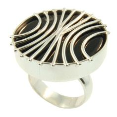 Sterling Silver & Black Onyx Ring handmade by Sam Drummond at Cameron Jewellery Black Onyx Ring, Jewellery, Sterling Silver, Winter, Rings, Handmade, Winter Time, Jewels, Hand Made