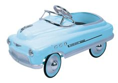 We had a peddle car similar to this....it was dark blue....play with it alot. Seems like someone in the neighborhood had a fire engine....funny