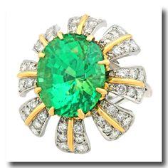 Inv. #17565  Schlumberger For Tiffany & Co. Ring Plat/18k c1960s New York
