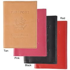 This genuine leather passport cover from Boston Traveler keeps your passport clean and protected from spills and perspiration. Its lining keeps it from slipping off your passport, and it is available in your choice of four fashion colors.