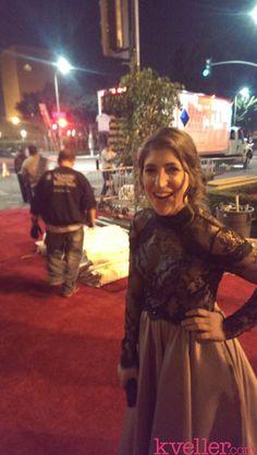 Behind the scenes with Mayim Bialik at the 2014 SAG Awards!