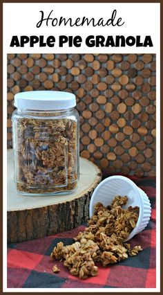 This homemade apple pie granola is so flavorful! It's also really easy and inexpensive to make, making it a perfect frugal recipe!
