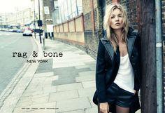 Kate Moss in Rag & Bone Campaign - Rag & Bone Lodon Store - ELLE