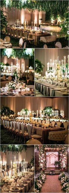 Featured Photographer: Samuel Lippke Studios; gorgeous green and white wedding reception idea