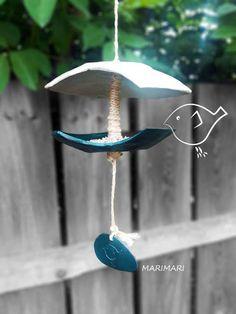 Mangeoire à oiseaux en céramique Ceramic Bird feeder