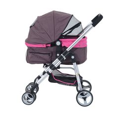 Pawhut Four Wheel Cat/ Dog Pet Stroller - Violet - Pet Trailers & Strollers - Bike Trailers & Strollers - Sports Qi Gong, Cat Stroller, Food Dog, Cat Carrier, Dog Safety, Pet Cage, Diy Stuffed Animals, Dog Supplies, Cat Toys