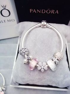 Design your own photo charms compatible with your pandora bracelets. 50% OFF!!! $199 Pandora Charm Bracelet White Pink. Hot Sale!!! SKU: CB01583 - PANDORA Bracelet Ideas