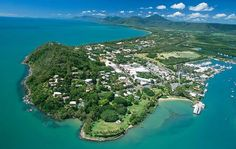 Beautiful Port Douglas seen from the sky. Photo by Adventures Tropic Of Capricorn, South Australia, Australia Travel, Queensland Australia, Parcs Nationaux, Land Of Oz, Holiday Places, Great Barrier Reef, Sunshine State