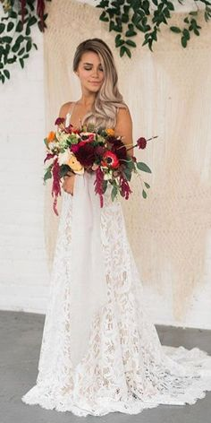 15 Lace Boho Wedding Dresses To Inspire You ❤️  lace boho wedding dresses a line romantic willow by watters ❤️ Full gallery: https://weddingdressesguide.com/lace-boho-wedding-dresses/ #bride #wedding #bridalgown